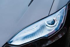 tesla model s electric car zero emissions - stock photo