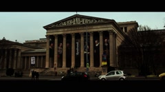 Museum of Fine Arts in Budapest. Stock Footage