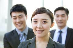 Business people headshots - stock photo