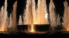 Refracting light on fountain water stream Stock Footage
