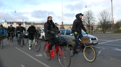 0608 UHD Bicycle path in Copenhagen Stock Footage
