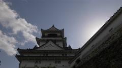 Tower of Kochi Castle in Japan Stock Footage