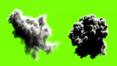 Explodes on green background - stock footage