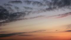Twilight sky horizon Stock Footage