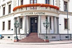 house of politics, the hessischer landtag in wiesbaden - stock photo