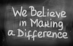 Stock Illustration of we believe in making a difference concept