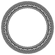 Damask Vector Pattern. Round Ornament Stock Illustration
