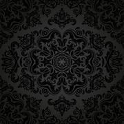 Damask Seamless Vector Pattern. Orient Background - stock illustration