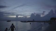 Sunrise - Sanur Beach Bali Indonesia Stock Footage