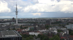 Hamburg aerial view with TV tower Stock Footage