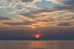 Sea beach orange sun set Kuvituskuvat