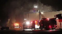 Commercial Structure Fire - stock footage
