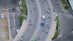 View of City Streets from Above  - Ho Chi Minh City Vietnam Stock Footage