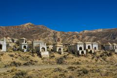 Graveyard in andes Stock Photos