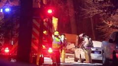 Firefighters On Scene Stock Footage