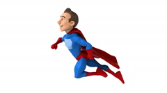 Fun superhero, Superhero flying  Stock Footage