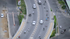 Time Lapse View of Streets from Above - Ho Chi Minh City Vietnam Stock Footage