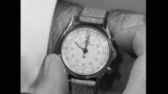 Close-up of person using stopwatch Stock Footage