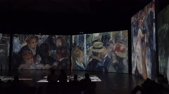 Auguste Renoir. Score at the Moulin de la Galette. 4K. - stock footage