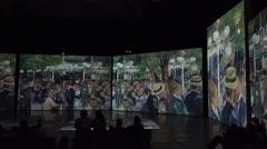 Auguste Renoir. Score at the Moulin de la Galette. 4K. Stock Footage