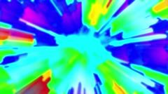 Aggressive Colorful RGB Burst Glowing Abstract Background Loop 2 Stock Footage