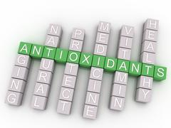3d image antioxidants issues concept word cloud background Stock Illustration