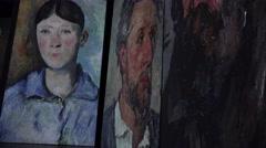 Paul Cezanne. Portrait of Madame Cezanne. 4K. Stock Footage