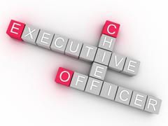 3d imagen ceo  issues concept word cloud background - stock illustration