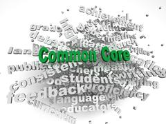 3d imagen common core  issues concept word cloud background - stock illustration