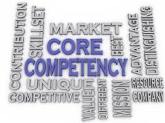 3d imagen core competency  issues concept word cloud background - stock illustration