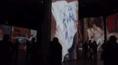 Auguste Renoir. Vase of Flowers. 4K. - stock footage