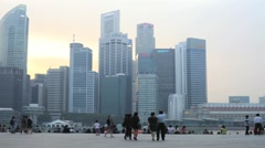 Singapore marina bay timelapse Stock Footage
