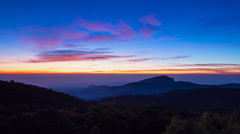 Time Lapse Sunrise On Valley At Doi Inthanon National Park Of Thailand Stock Footage