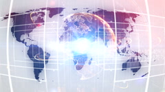 Global maps and digital planet background 1 Stock Footage