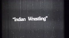 Boy Scouts of America, Indian wrestling - stock footage