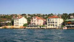 Cengelkoy seaside resort in Istanbul, Turkey Stock Footage