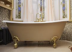 Bathroom interior in classic style Stock Photos