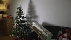 Christmas Tree Box & Toys Stock Footage