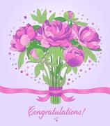 Congratulations card - stock illustration