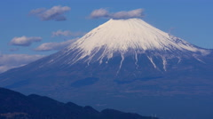Mount Fuji and Clouds Time Lapse Stock Footage