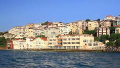 Flats has sea view in Uskudar Seaside resort in Istanbul, Turkey. Stock Footage