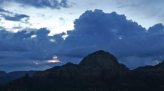 Cumulus Clouds over Sedona Cliff Stock Footage