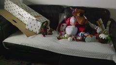 Christmas Tree Box &Toys#4 Stock Footage