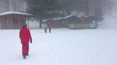 People on the snow Stock Footage
