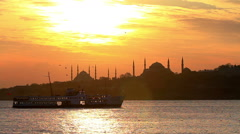 Istanbul. Static telephoto shot Stock Footage