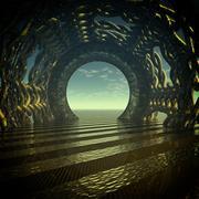 Mystic tunnel Stock Illustration