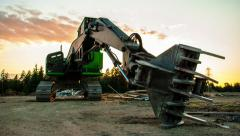 Construction Equipment Sunset Time Lapse - stock footage