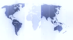 Global maps and digital planet background 5 Stock Footage