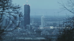 viennaDC 001 in foggy winter from far distance - stock footage
