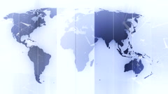 Global maps and digital planet background 6 Stock Footage